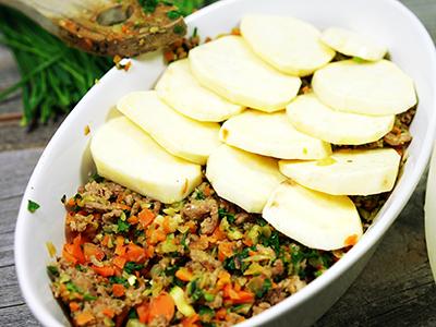 GemüseFleischAuflaufform