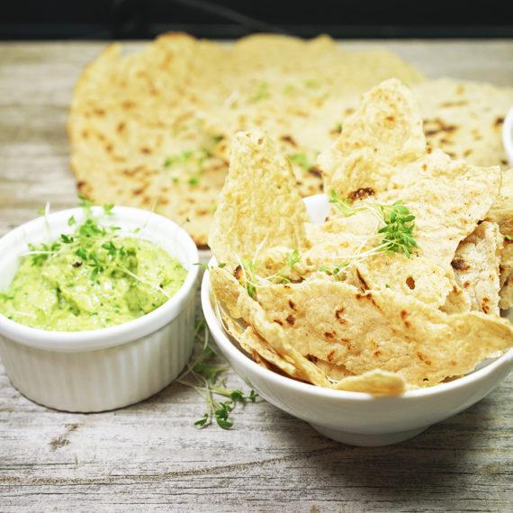 Paleo – Tortillia Chips mit Avocadodip - Koch-Rezepte Elke Eisner Steinzeitköchin Paleo