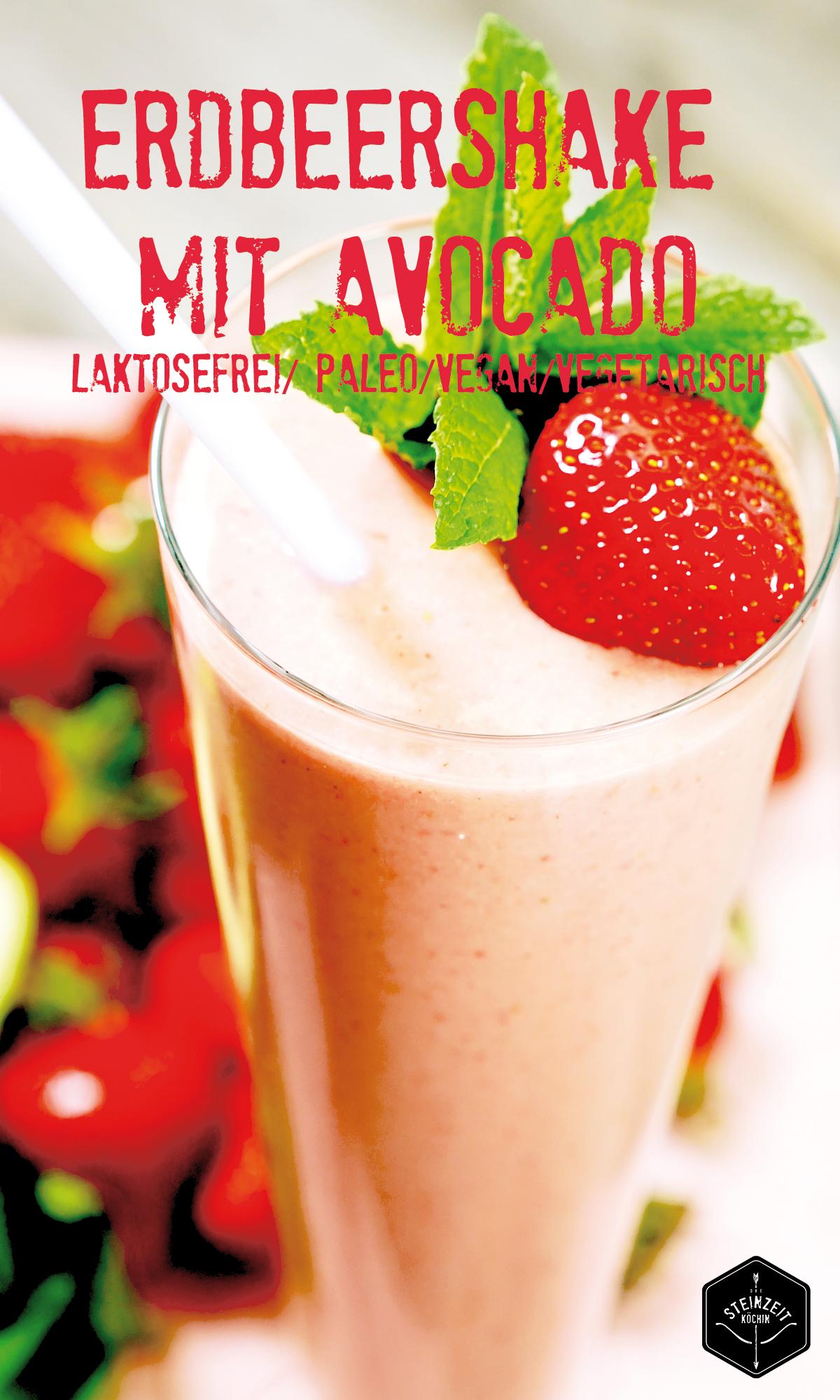 Erdbeer-Smoothie, kohlehydratfrei, laktosefrei, Paleo, Frühstücksidee, gesundes Essen, fruchtig, Avocados, abnehmen