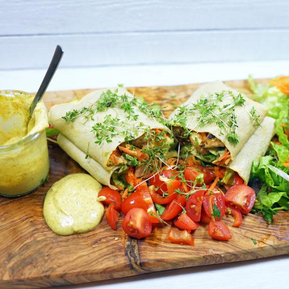 Glutenfreie Burritos im Asia-Style - Koch-Rezepte Elke Eisner Steinzeitköchin Paleo