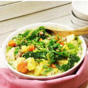 Italienischer Süßkartoffel-Eintopf mit Grünkohl  - Koch-Rezepte Elke Eisner Steinzeitköchin Paleo