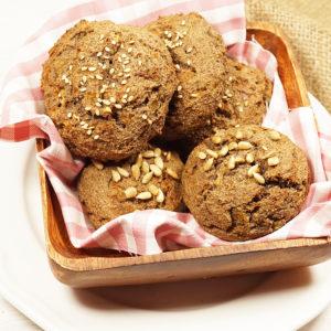 Leinsamen-Zwiebelbrötchen, ganz ohne Mehl und ohne Getreide
