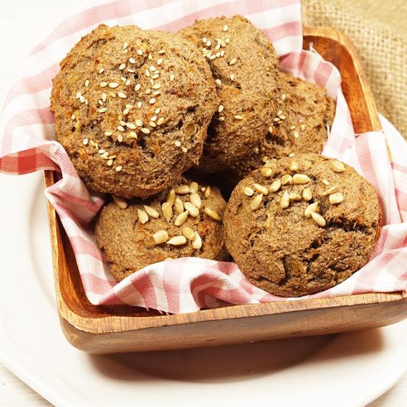 Leinsamen-Zwiebelbrötchen, ganz ohne Mehl und ohne Getreide - Koch-Rezepte Elke Eisner Steinzeitköchin Paleo